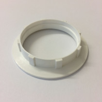 Plastic Shade Ring E27 White