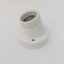 Porcelain Wall Lamp Holder E27 Glazed Angular