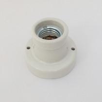 Porcelain Wall Lamp Holder E27 Glazed Straight