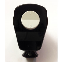Schuko Plug with Switch Black with White Rocker Switch