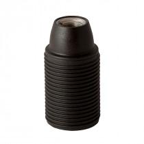 Plastic Lamp Holder E14 With External Thread Black