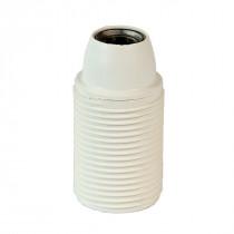 Plastic Lamp Holder E14 With External Thread White
