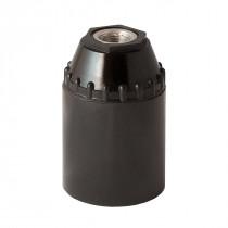 Bakelite Lamp Holder E27 Conical Unthreaded Black