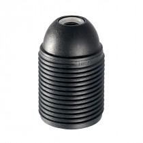 Plastic Lamp Holder E27 With External Thread Black