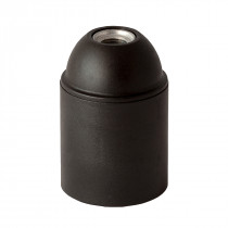 Plastic Lamp Holder E27 Unthreaded Black
