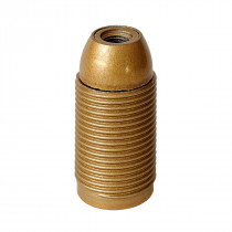 Plastic Lamp Holder E14 With External Thread Gold