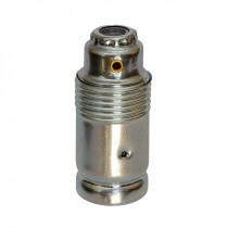 Metal Lamp Holder E14 Cylinder Shape Unthreaded Silver