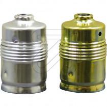 Metal Lamp Holder E27 Cylinder Shape Unthreaded Gold Silver