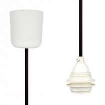 Pendant Lamp Plastic Dark Brown