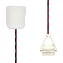 Pendant Lamp Plastic Grey-Black-Cerise