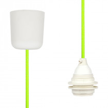Pendant Lamp Plastic Neon Green Yellow