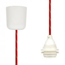 Pendant Lamp Plastic Red-Gold Twist