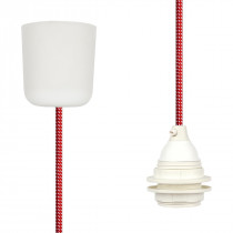 Pendant Lamp Plastic Red-White Spots