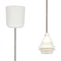 Pendant Lamp Plastic Silver Grey Netlike