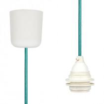 Pendant Lamp Plastic Turquoise Netlike