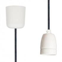 Pendant Lamp Porcelain Black Netlike