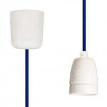 Pendant Lamp Porcelain Blue