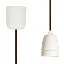 Pendant Lamp Porcelain Brown