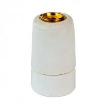 Porcelain Lamp Holder E14 Glazed