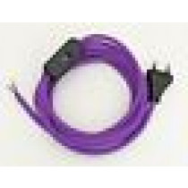 Assembled Supply Cord with Plug and Inline Cord Switch Lilac 2 Core 3m