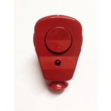 Schuko Plug with LED Control switch red