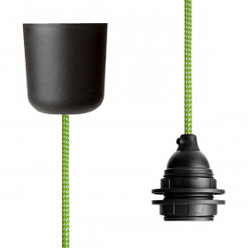 Pendant Lamp Plastic Green-White Spots