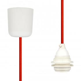 Pendant Lamp Plastic Rust Red