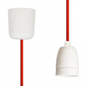 Pendant Lamp Porcelain Rust Red