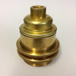 Metal Lamp Holder E27 Antique Threaded Gold