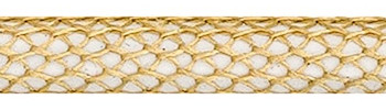 Textile Cable Gold-White Netlike Textile Covering