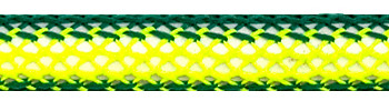 Textile Cable Green/Yellow Netlike Textile Covering