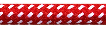 Textile Cable Red-White Spots
