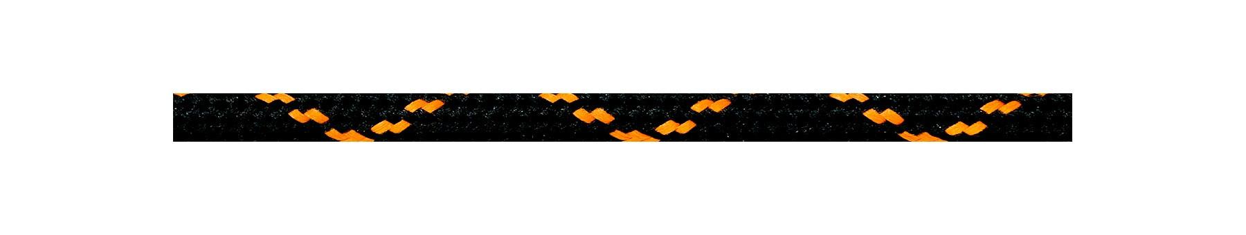 Textilkabel Schwarz-Orange