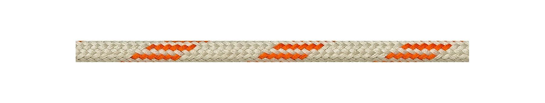 Textilkabel Orange-Beige