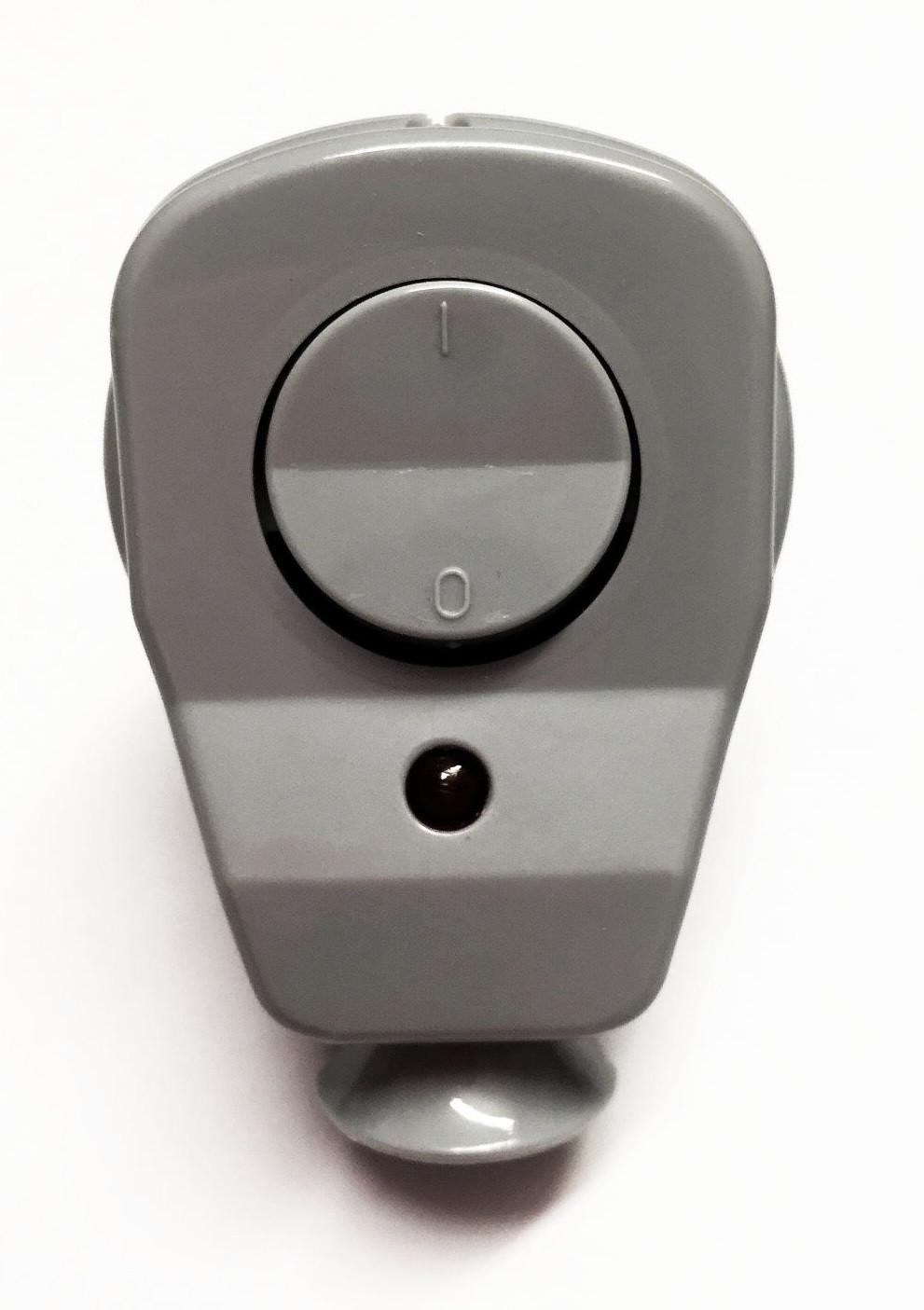Schuko Winkelstecker mit Schalter und Diode grau