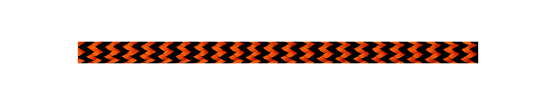 Textilkabel Orange-Schwarz Zick Zack