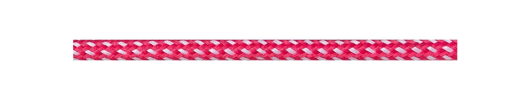 Textilkabel Pink-Weiss Gepunktet