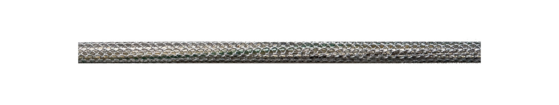 Textilkabel Silber-Grau Netzartiger Textilmantel