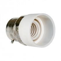 Adapter B22-E14 weiß