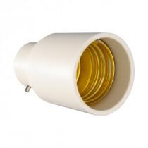 Adapter B22-E27 weiß