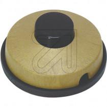 Fußtret-Schalter gold-schwarz