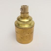 Metallfassung E27 antik mit Zugentlastung gold