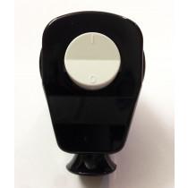 Schuko Winkelstecker mit Schalter Schwarz/Weiß