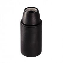Kunststofffassung E14 mit Glattmantel schwarz