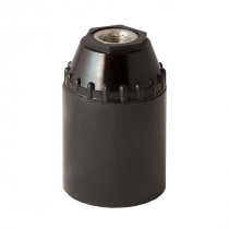 Bakelit Fassung E27 konisch mit Glattmatel schwarz