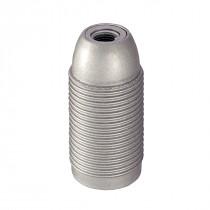 Kunststofffassung E14 mit Außengewinde silber