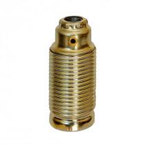 Metallfassung E14 zylindrisch mit Außengewinde gold