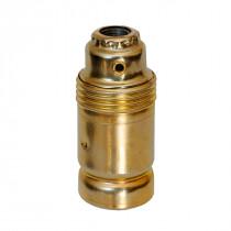 Metallfassung E14 zylindrisch mit Glattmantel gold