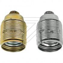 Metallfassung E27 konisch mit Außengewinde gold silber