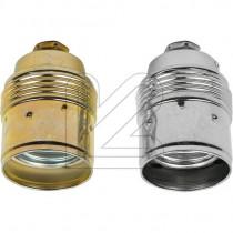 Metallfassung E27 konisch mit Glattmantel gold silber